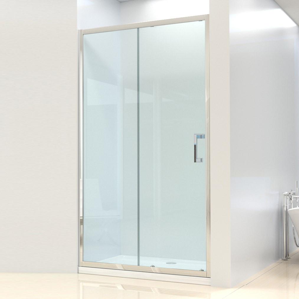 Душевая дверь Dusel FА-512, 120х190, дверь раздвижная, стекло прозрачное