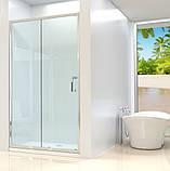 Душевая дверь Dusel FА-512, 120х190, дверь раздвижная, стекло прозрачное, фото 2