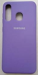 Силиконовый чехол-накладка Color Silk для Samsung A30 Lavada