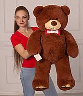"""Бурый плюшевый мишка """"Мистер Медведь 110 см."""" Большая мягкая игрушка на день рождения"""