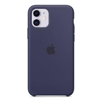 Силиконовый Чехол Накладка Original Silicone Case High Copy — iPhone 11 Midnight Blue (8)