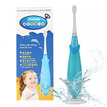 Детская электрическая зубная щетка Seago SG921 Sonic с музыкальным таймером Blue  КОД: K1010050204, фото 3