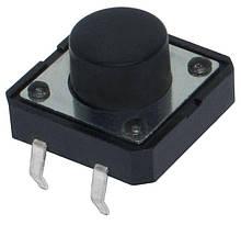 Кнопка тактовая, микрик SMD 4-pin, DIP 4 контакта, 12x12x7мм. 1шт.