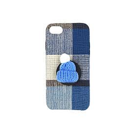 Чохол для iPhone SE 2020 силіконовий з тканинної поверхнею, з попсокетом, Шапочка