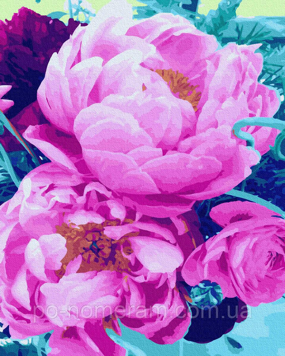 Картина по номерам  Волшебный аромат пионов (BRM31448) 40 х 50 см