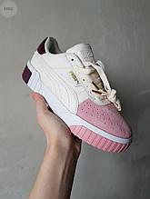Женские кроссовки Puma Cali White/Pink