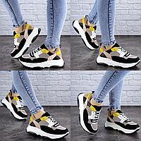 Женские разноцветные кроссовки Fashion Pepita 2043 37 размер 23,5 см Черный