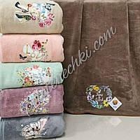 Банное полотенце микрофибра Нежность