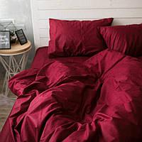 Комплект постельного белья Хлопковые Традиции Полуторный 155x215 Бордовый КОД: PF02_полуторный