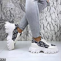Кроссовки женские стильные эко кожа с текстилем, фото 2