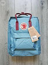 Рюкзак шведской марки Kanken Fjall Raven 16L Blue/Bordo