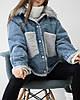 Тепла джинсова зимова жіноча куртка, фото 3