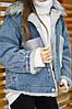 Тепла джинсова зимова жіноча куртка, фото 2