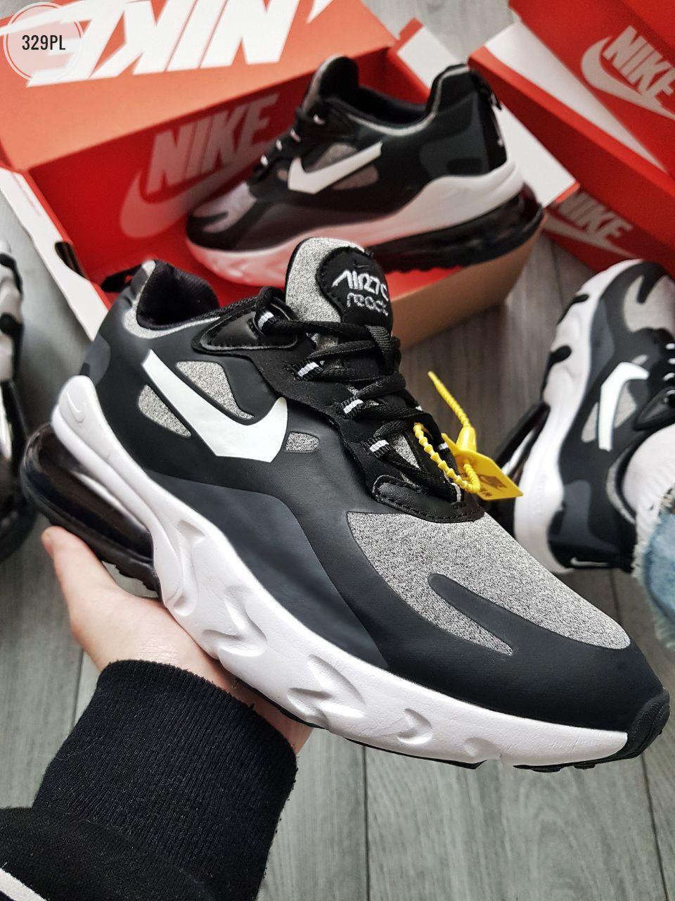 Мужские кроссовки Nike Air Mаx 270 Reаct  Black/Gray/White