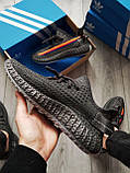 Мужские кроссовки Yeezy Dark Grey (реплика), фото 2