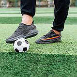 Мужские кроссовки Yeezy Dark Grey (реплика), фото 8