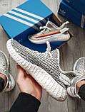 Мужские кроссовки  Yeezy White/Black (реплика), фото 2