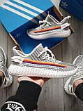 Мужские кроссовки  Yeezy White/Black (реплика), фото 4