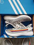 Мужские кроссовки  Yeezy White/Black (реплика), фото 6