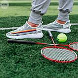 Мужские кроссовки  Yeezy White/Black (реплика), фото 8