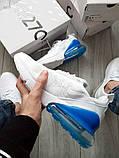 Мужские кроссовки Nike Air Max 270 Flyknit White/Blue, фото 4
