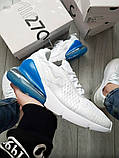 Мужские кроссовки Nike Air Max 270 Flyknit White/Blue, фото 7