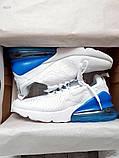 Мужские кроссовки Nike Air Max 270 Flyknit White/Blue, фото 8
