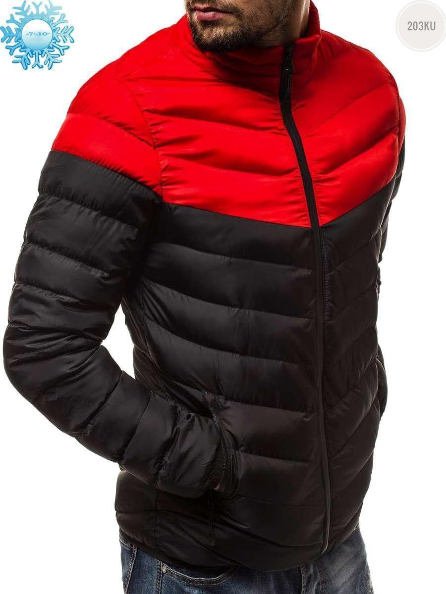 Мужская куртка еврозима Red/Black