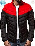 Мужская куртка еврозима Red/Black, фото 2