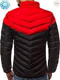 Мужская куртка еврозима Red/Black, фото 3