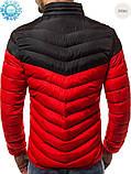 Мужская куртка еврозима Black/Red, фото 2