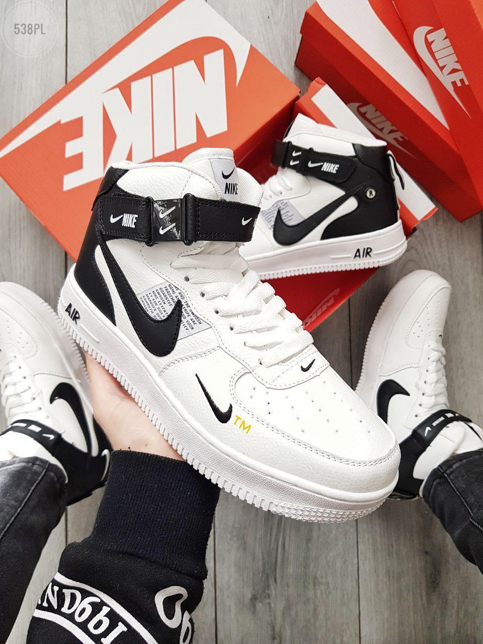 ДЕМИСЕЗОН! Чоловічі кросівки Nike Air Force Hight White/Black