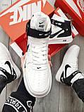 ДЕМИСЕЗОН! Чоловічі кросівки Nike Air Force Hight White/Black, фото 2