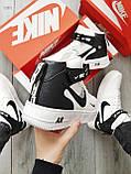 ДЕМИСЕЗОН! Чоловічі кросівки Nike Air Force Hight White/Black, фото 3