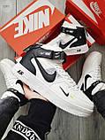ДЕМИСЕЗОН! Чоловічі кросівки Nike Air Force Hight White/Black, фото 5