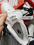 ДЕМИСЕЗОН! Чоловічі кросівки Nike Air Force Hight White/Black, фото 6