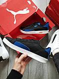 Чоловічі кросівки Puma MATCH Black/Blue, фото 4