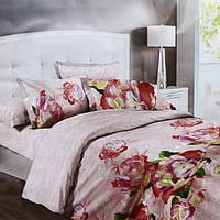 Комплект постельного белья Полуторный 150х215 см Светло-коричневый КОД: hub_Zcft88657