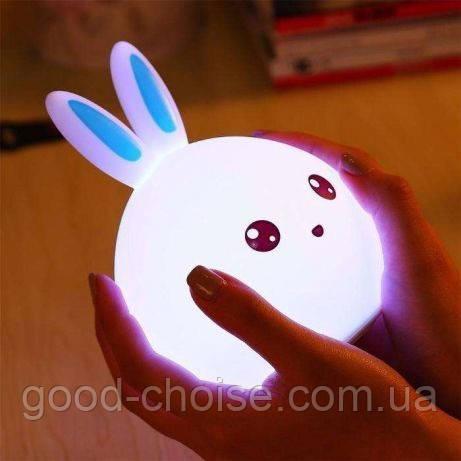 Силиконовый ночник 3D Кролик