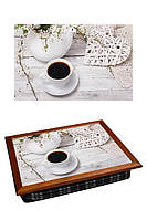 Поднос подушка для завтрака в постель BST 040373 44*36 Коричневый в стиле прованс КОД: 040373
