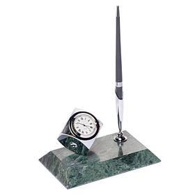 Подставка для ручки BST 540020 с часами 16х10 КОД: 540020