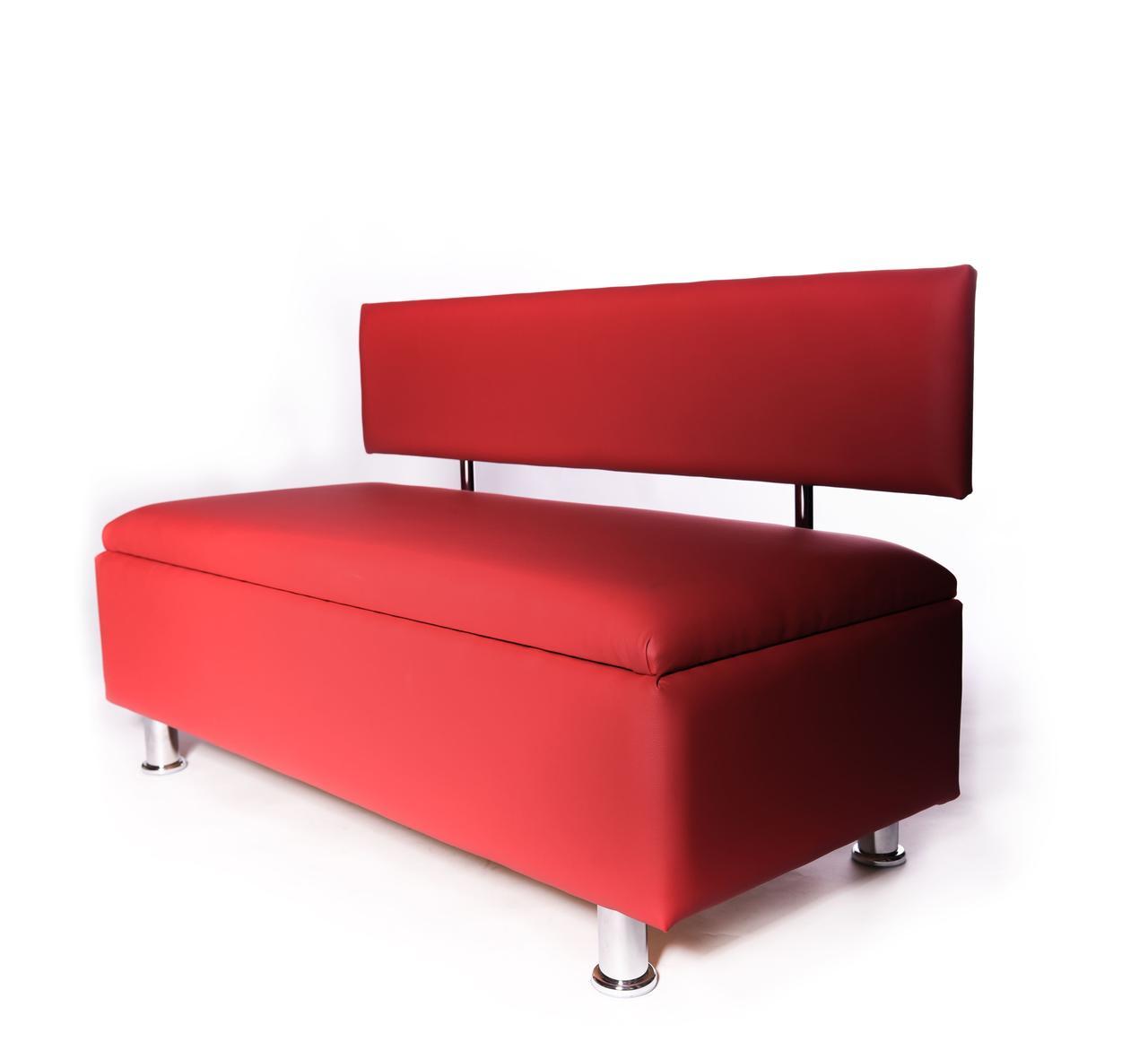 Офисный диван, диван для зала ожидания Konor с нишей, кожа