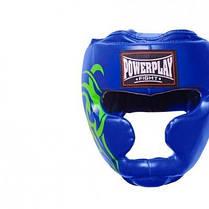 Боксерський шолом PowerPlay тренувальний 3043 Синій XL SKL24-144058, фото 2