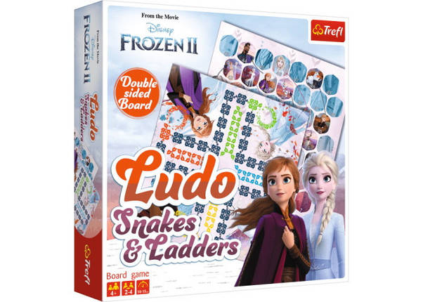 Настольная игра Лудо 2 в 1. Холодное сердце 2 (Frozen II Ludo. Snakes and Ladders), фото 2