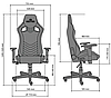 Кресло геймерское Hexter PRO R4D механизм Tilt крестовина МВ70, экокожа Eco/01 black/yellow (Новый Стиль ТМ), фото 6