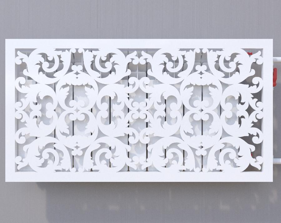 Декоративная решетка на батарею SMARTWOOD | Экран для радиатора | Накладка на батарею