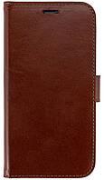 Кожаный чехол-книжка Valenta для телефона iPhone XR Коричневый КОД: С1241811ipxr