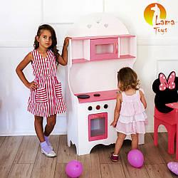 Детская кухня Lama Toys Белая с розовым