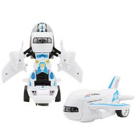 Робот літак Trend-mix Airbus Deformation Білий з блакитним КОД: tdx0000733