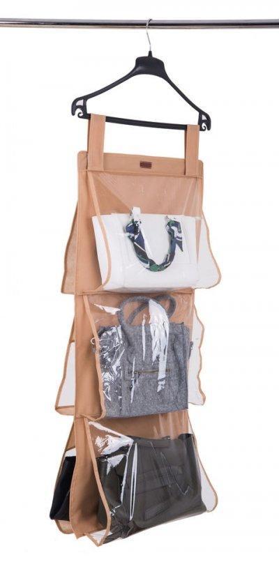 Подвесной органайзер для хранения сумок L Organize бежевый HBag-L SKL34-176315